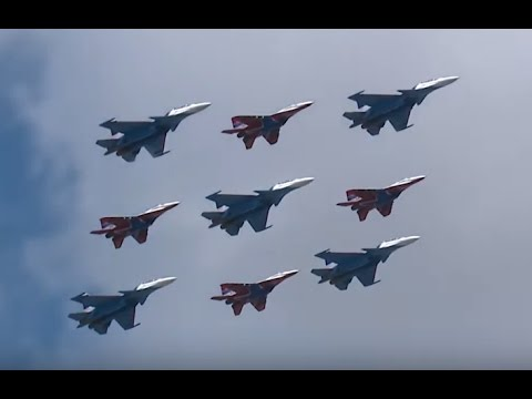Russian Knights Aerobatic Team Prepares for 2017 Moscow Victory Day Parade