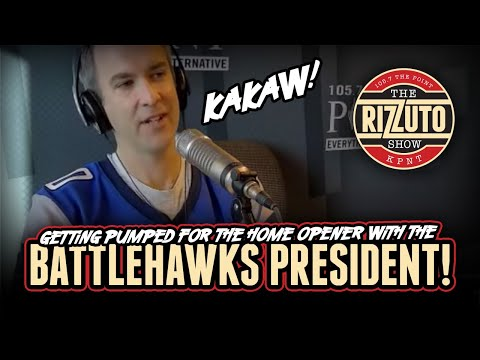 The president of the BATTLEHAWKS talks home opener, STL football, and more! [Rizzuto Show]