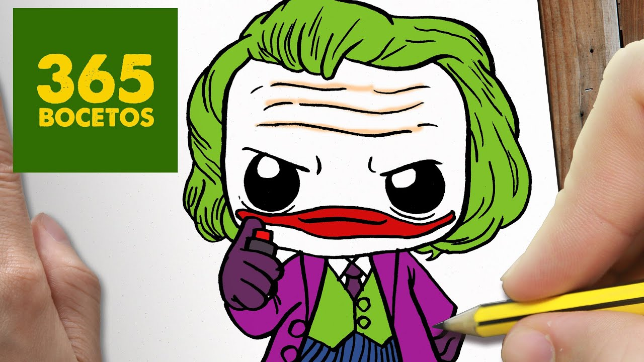 COMO DIBUJAR JOKER KAWAII PASO A PASO , Dibujos kawaii faciles , How to draw a Joker , YouTube