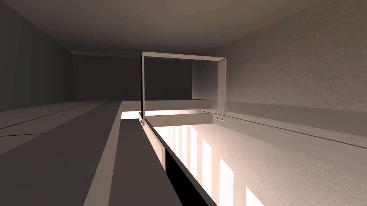 einbau einer leinwand in die abgehangene decke youtube. Black Bedroom Furniture Sets. Home Design Ideas