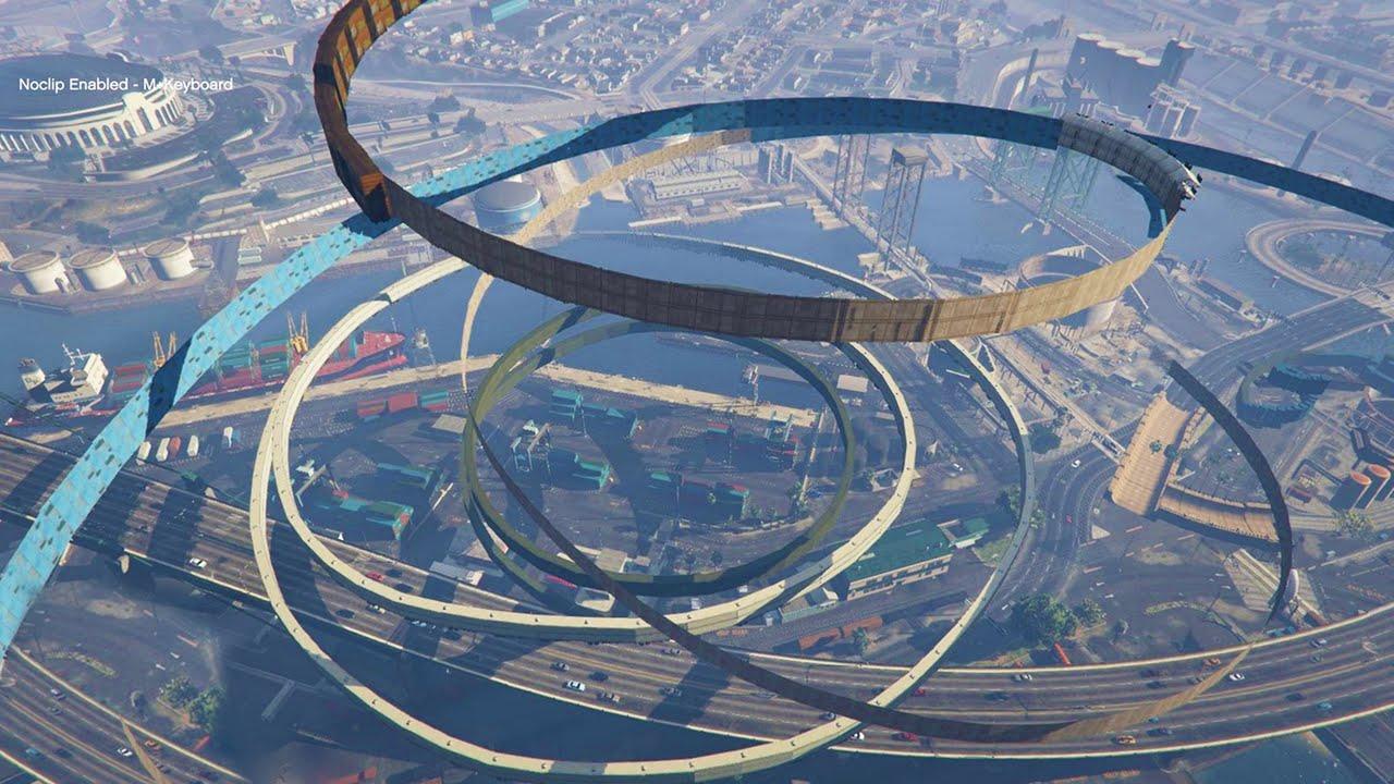 World 39 S Longest Impossible Wallride Gta 5 Mods Funny Doovi