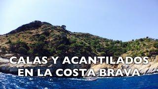 Costa Brava. Cala Montjoi y acantilados. Girona