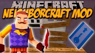NEIGHBOR CRAFT MOD - Hello neighbor en Minecraft! - Minecraft mod 1.7.10 Review ESPAÑOL