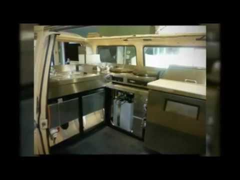VW Van turned into a Crepe & Sandwich Food Truck - YouTube