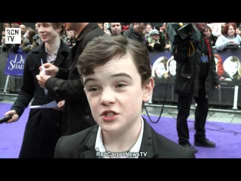 Gulliver McGrath   Dark Shadows European Premiere