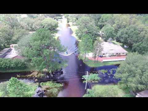 Hurricane Irma - Anclote River Flooding - New Port Richey, Florida - Video 1 of 7