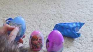Opening Gifts With Boy Werewolf - Disney Frozen Lemonhead Plastic Eggs