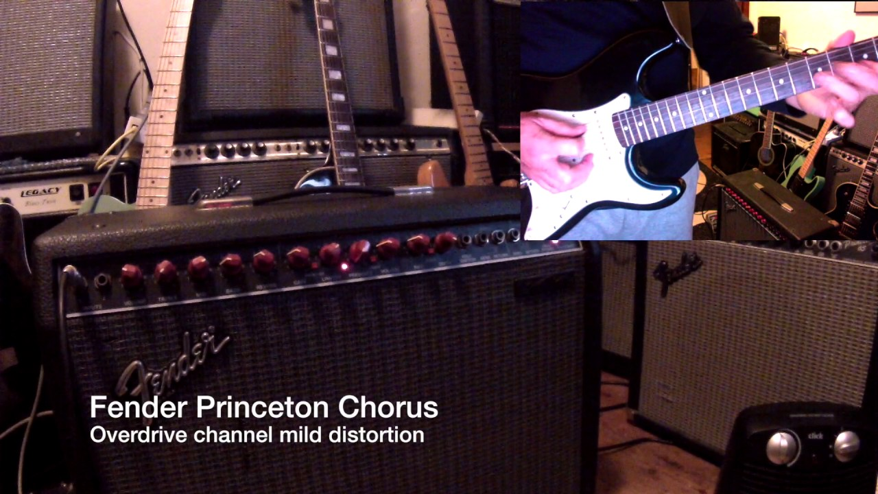 Red Knob Fender Princeton Chorus Demonstration