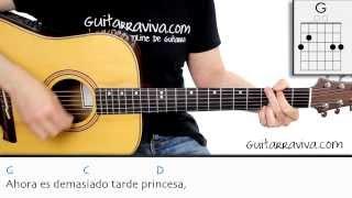 como tocar princesa de joaqun sabina en guitarra acordes y ritmo tutorial