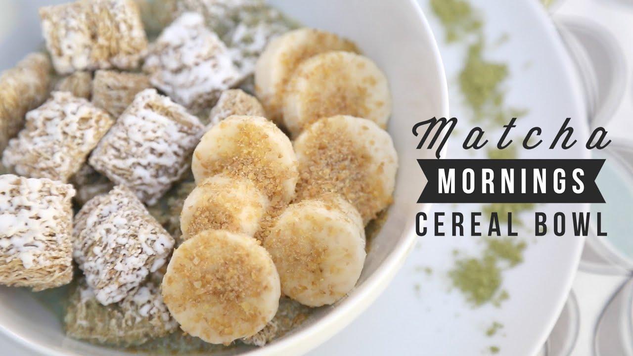 Matcha Mornings Cereal Bowl ♥ Angel Wong\'s Kitchen - YouTube