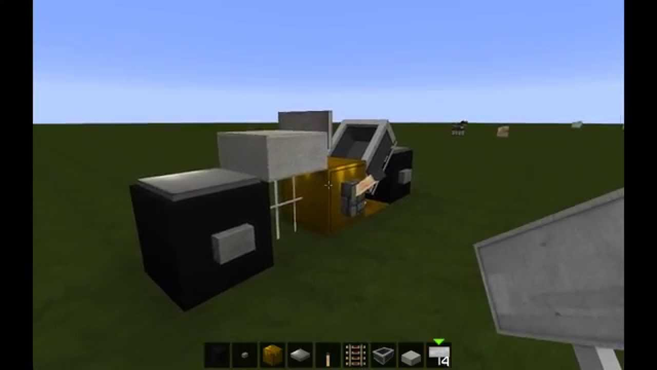 Minecraft Vehicle Tutorial 1 Chopper Motorcycle Youtube