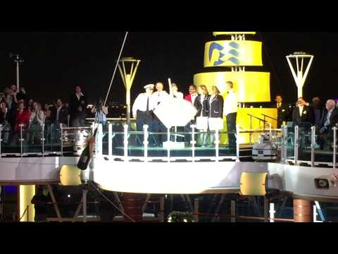Christening of the new Regal Princess Cruise Ship by the Original Love Boat Cast as Godparents