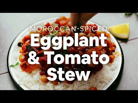 Moroccan-Spiced Eggplant & Tomato Stew | Minimalist Baker Recipes