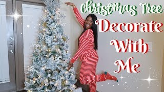 DECORATE WITH ME! GLAM CHRISTMAS TREE DECORATING✨| 2018