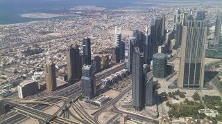 Dubai, At.mosphere at Burj Khalifa - view from the world's highest bar