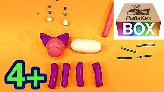 Видеолепка для детей КОШКА поэтапно лепим из пластилина просто
