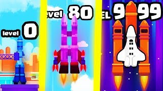 IS THIS THE HIGHEST LEVEL FASTEST ROCKET SPACE SHUTTLE EVOLUTION? (9999+ BLACK HOLE) l Idle Rocket