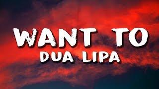 Dua Lipa - Want To (Lyrics) Video