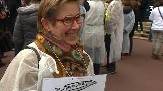 Les infirmiers en grève contre la Plan Santé 2022 à Limoges mardi 20 novembre