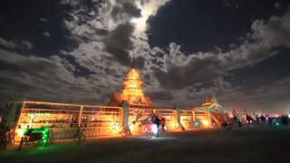 Time Lapse From The Temple At Burning Man 2012