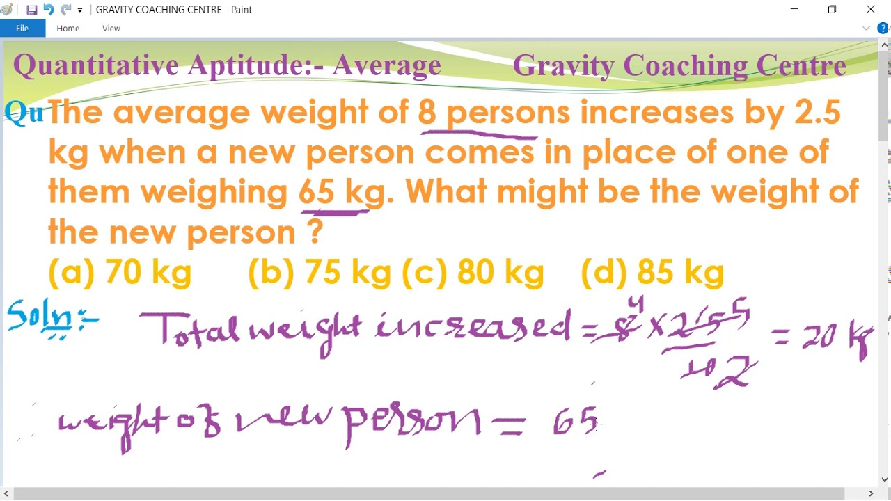 The average weight of 8 persons increases by 2 5 kg when a new person comes  in place of one of them