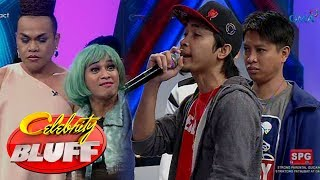 Celebrity Bluff: Sinio and Dello in the house