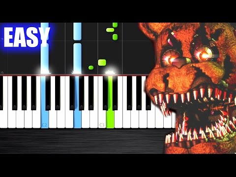 FIVE NIGHTS AT FREDDY'S 4 SONG - Break My Mind - EASY Piano Tutorial by PlutaX - Synthesia