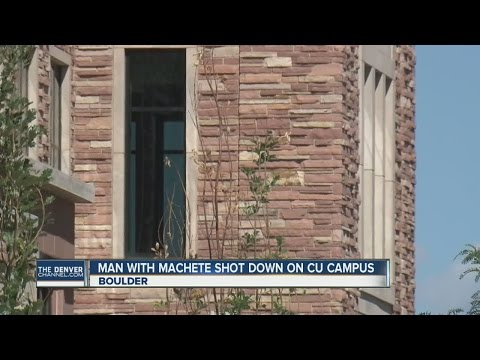 Police kill machete wielding suspect at Colo. college