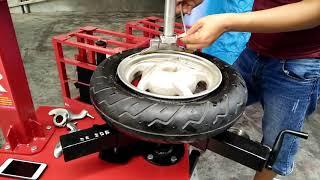 Máy ra vào lốp tự chế phiên bản 20 sơn tĩnh điện. DT: 0966.939.826