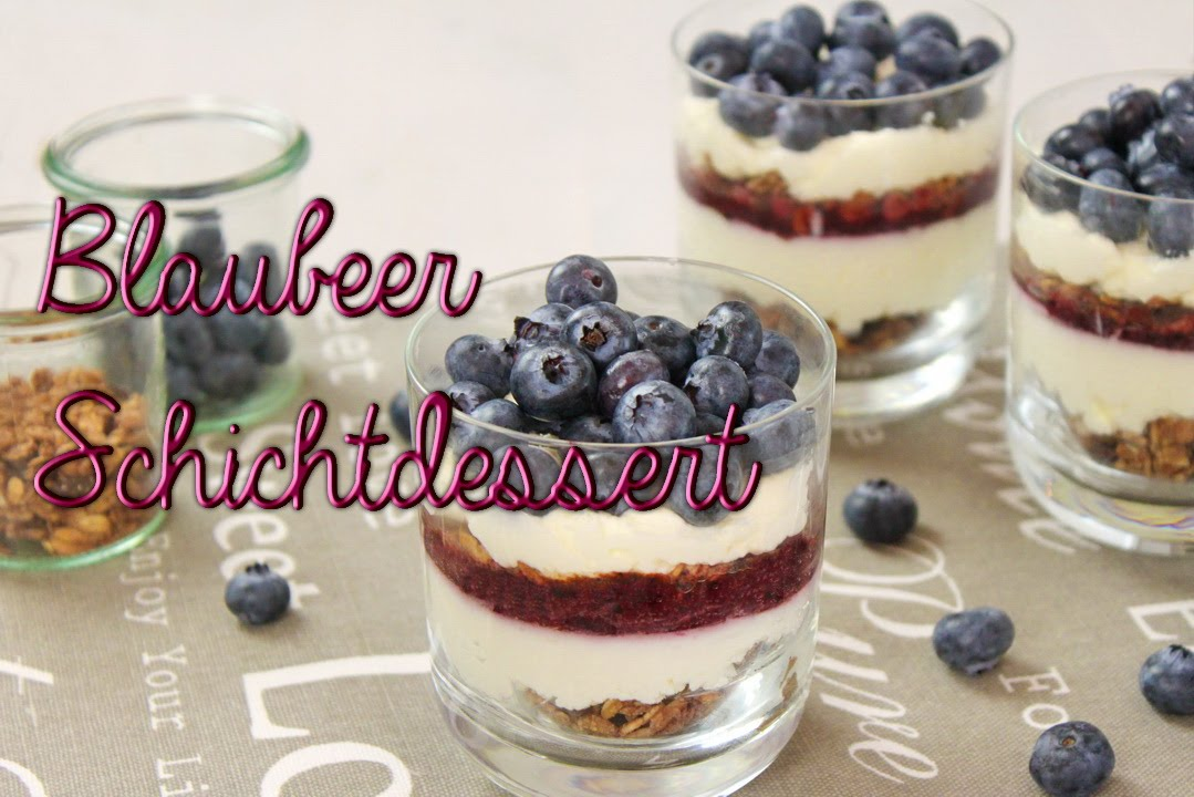 blaubeer mascarpone schichtdessert im glas blaubeer rezepte mit evas backparty youtube. Black Bedroom Furniture Sets. Home Design Ideas