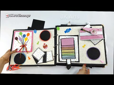 DIY Birthday Scrapbook for HIM | Birthay Gift Idea | How to make a Scrapbook | JK Arts1261