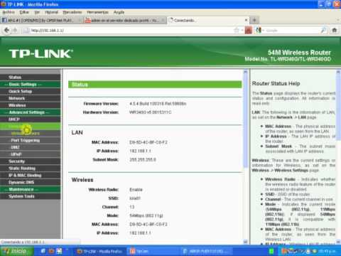 abrir puerto del modem wi-fy tk-link