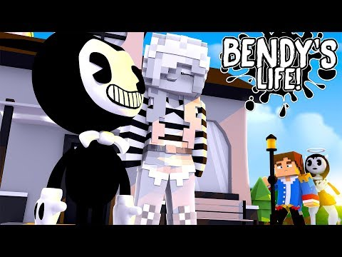 Minecraft BENDY'S LIFE    DONNY & ALICE ANGEL SPY ON BENDY & LEAH  TO UNCOVER THEIR BIG SECRET!!