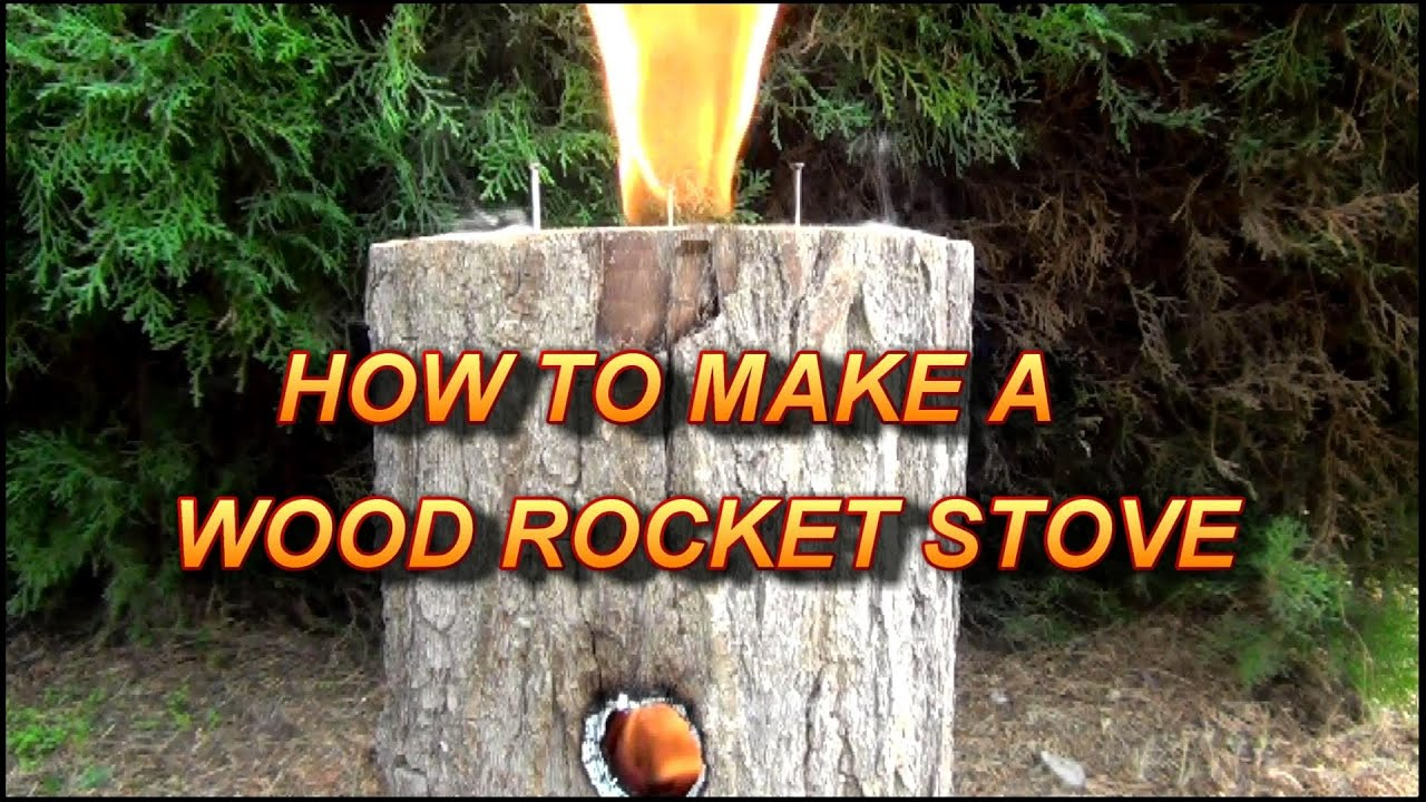 How To Make A Wood Rocket Stove Easy Multi Use