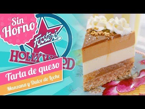 TARTA DE QUESO CON MANZANA Y DULCE DE LECHE   Estilo Foster's Hollywood   Quiero Cupcakes!