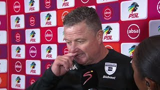 Absa Premiership | Cape Town City v Bidvest Wits | Post-match interview with Gavin Hunt