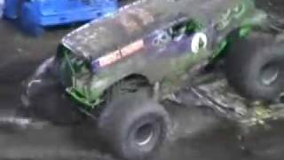 monster trucks in the tampa mud inc grave digger