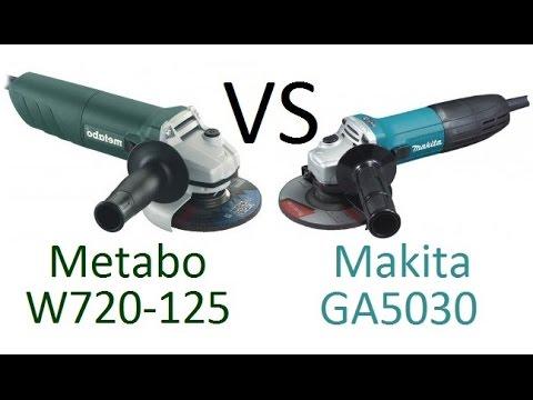 РоботунОбзор: Сравнение болгарок Makita GA5030 vs Metabo W720-125