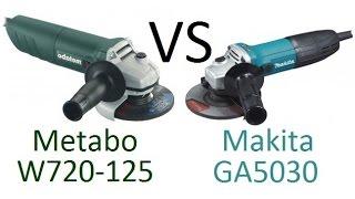 РоботунОбзор: Сравнение болгарок Makita GA5030 vs Metabo W720-125(, 2016-04-18T07:14:06.000Z)