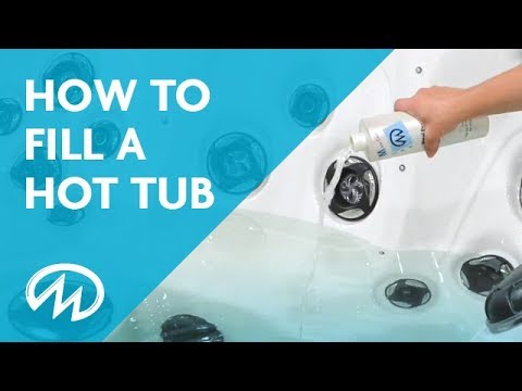 Hot Tub Start Up - How to Fill a Hot Tub - YouTube