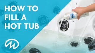 Hot Tub Start Up - How to Fill a Hot Tub