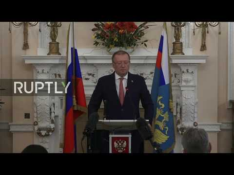 Live: Russian Ambassador to UK speaks in London following diplomats' expulsion