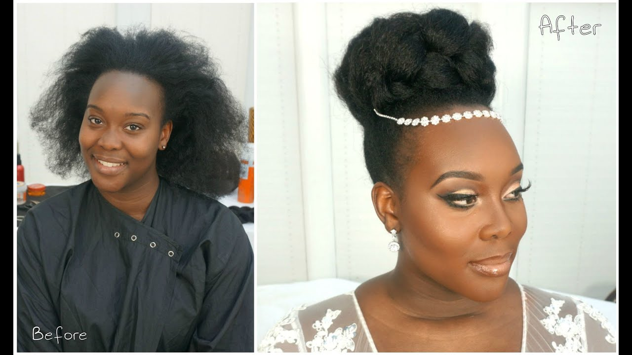 transformation tuesdays | natural hair bride - youtube