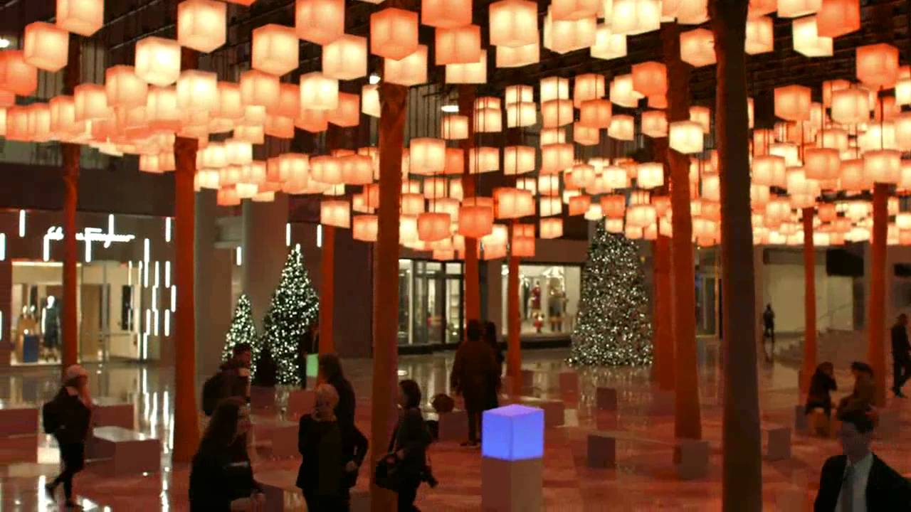 rockwell group luminaries installation at brookfield place