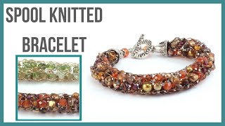 Spool Wire Knitted Bracelet Tutorial - Beaducation.com