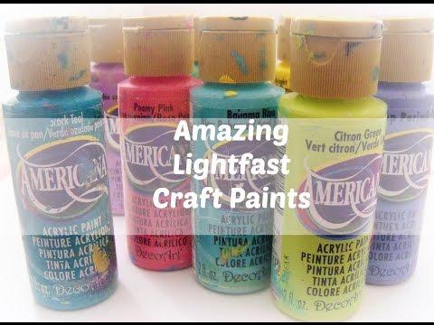 Lightfast Craft Paints: Deco Art Acrylic paints