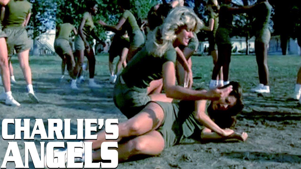 Jill Wrestles Kelly At Bootcamp! | Charlie's Angels