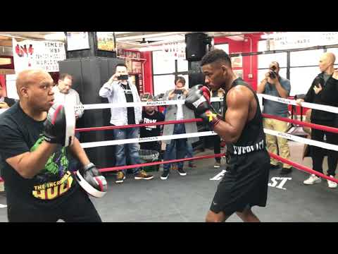 DANNY JACOBS MEDIA WORK OUT, SUAVE CHRIS ALGIERI APPEARANCE!