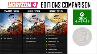 Forza Horizon 4 Editions Comparison - Standard, Deluxe, Ultimate + Game Pass Details - Horizon 4