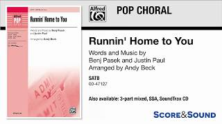 Runnin' Home to You, arr. Andy Beck – Score & Sound